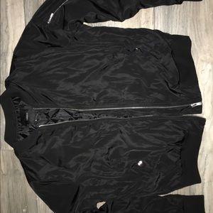 Black Bomber Jacket ( worn once )